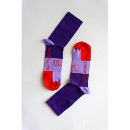 Chaussettes violettes IRIS
